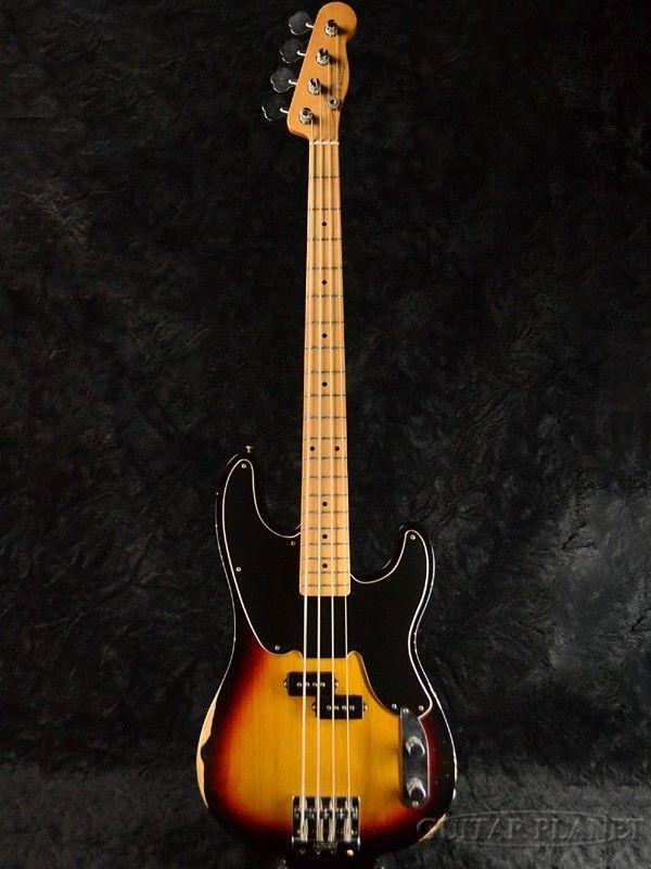 Fender Mexico Mike Dirnt Road Worn Precision Bass Sunburst Fender Mexico Electric Guitar Bass