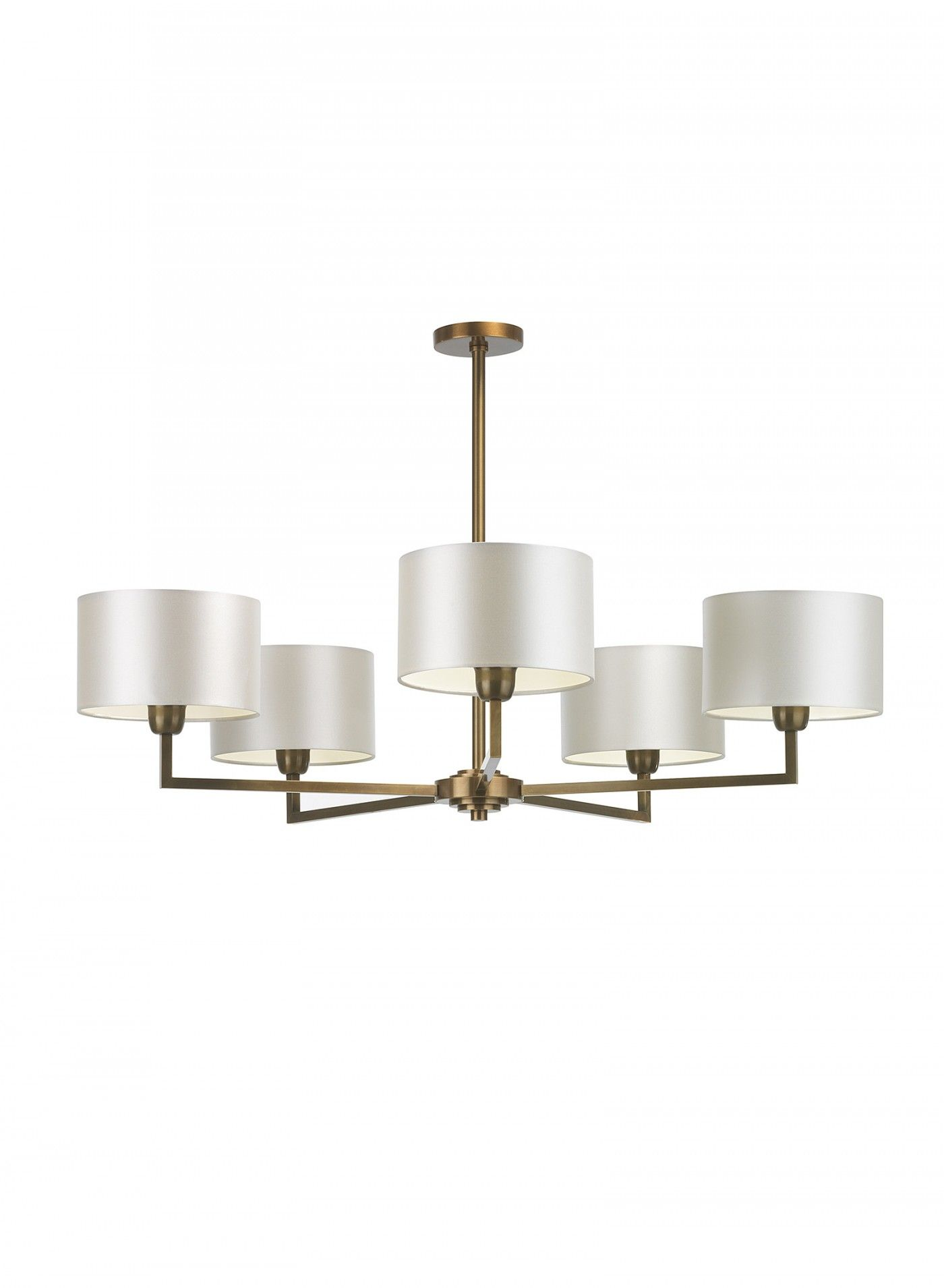 Holt Pendant 5 Arm Antique Br Ceiling Light Heathfield Co