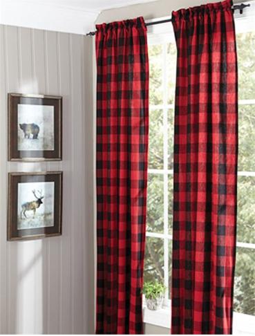 21 Ideas For A Woodland Hunting Themed Nursery Cabin Decor Plaid Bedroom Plaid Curtains