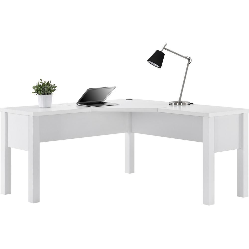 Ameriwood Home Marston White L Shaped Desk White L Shaped Desk L Shaped Desk Home Office Furniture