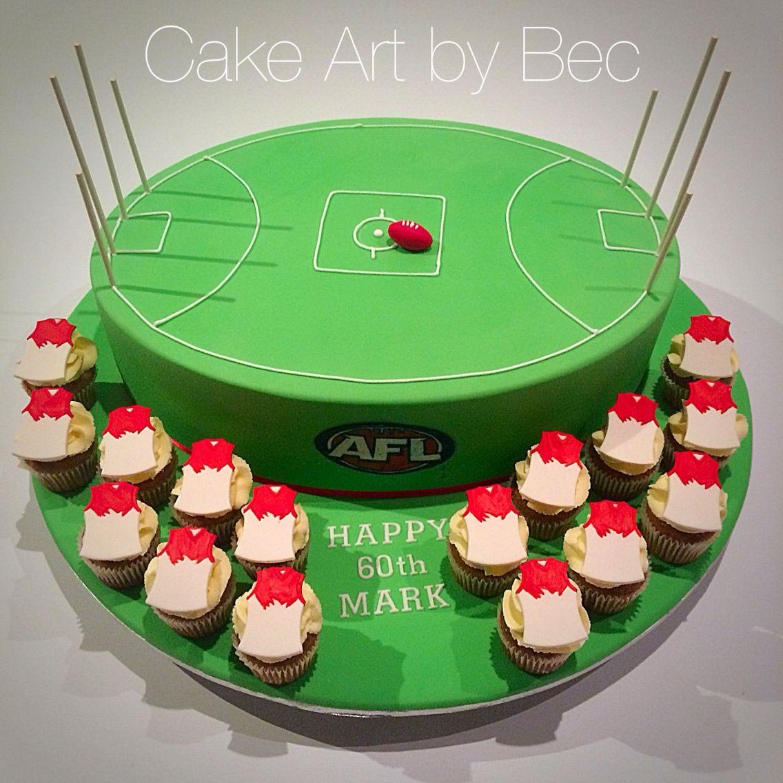 wedding cakes essendon afl football cake by cake by bec https m 24321