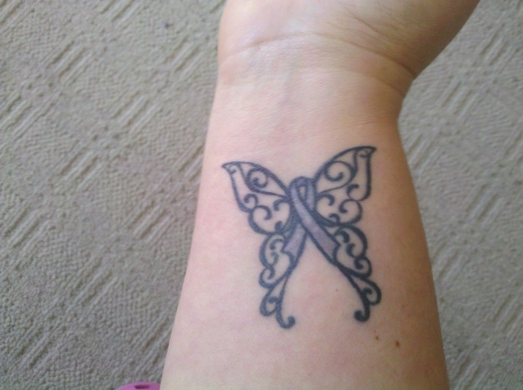 Pin by katherine peringer on tatts cancer ribbon tattoos