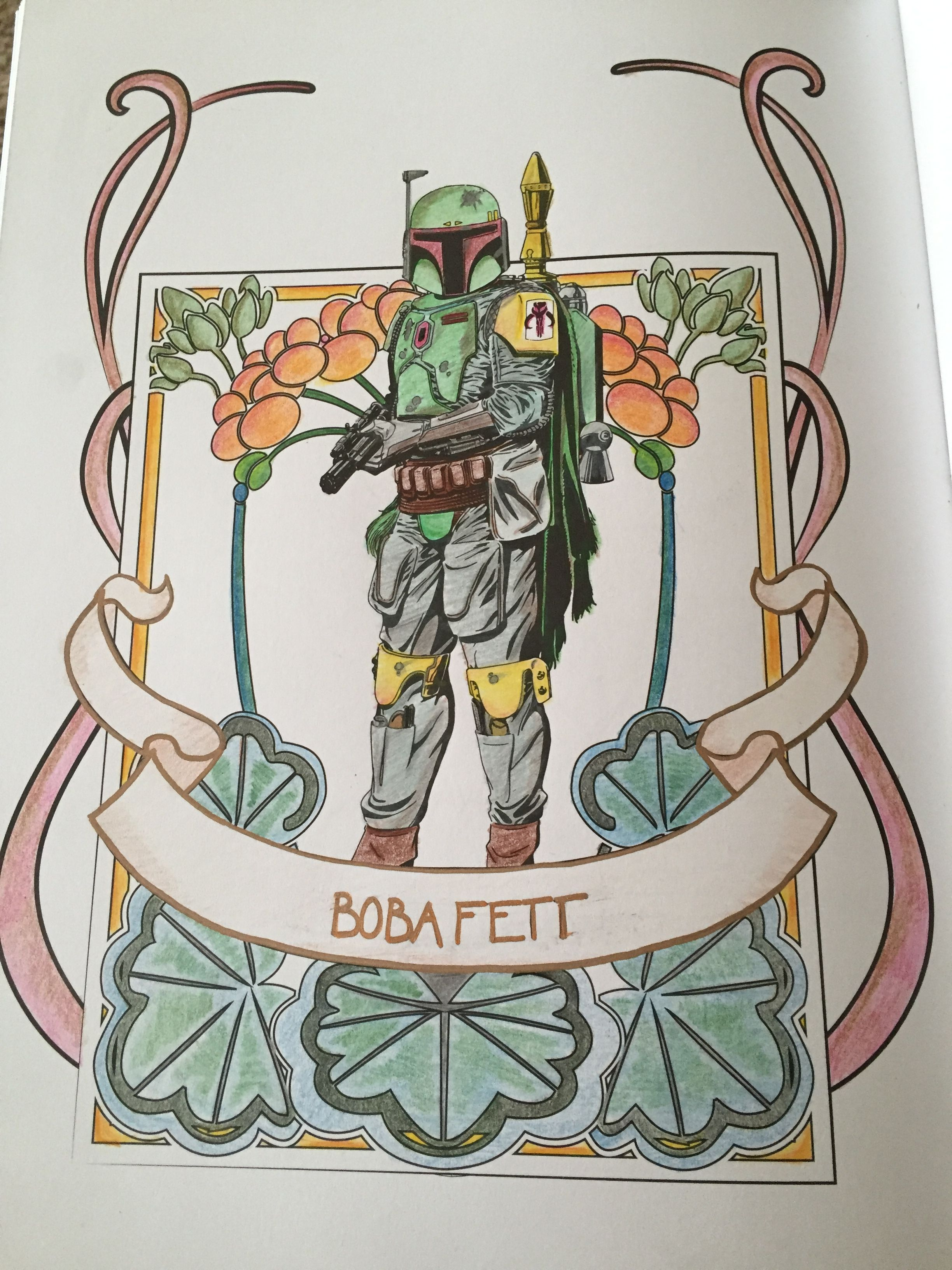 BOBA FETT Probably my best attempt at shading with pencils