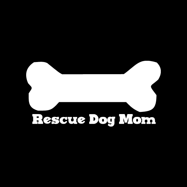 This vinyl rescue dog car window decal is for the proud rescue dog mom. It's the perfect addition to your car window to show your pride in your fur kid and it's made to last, while giving back to shel