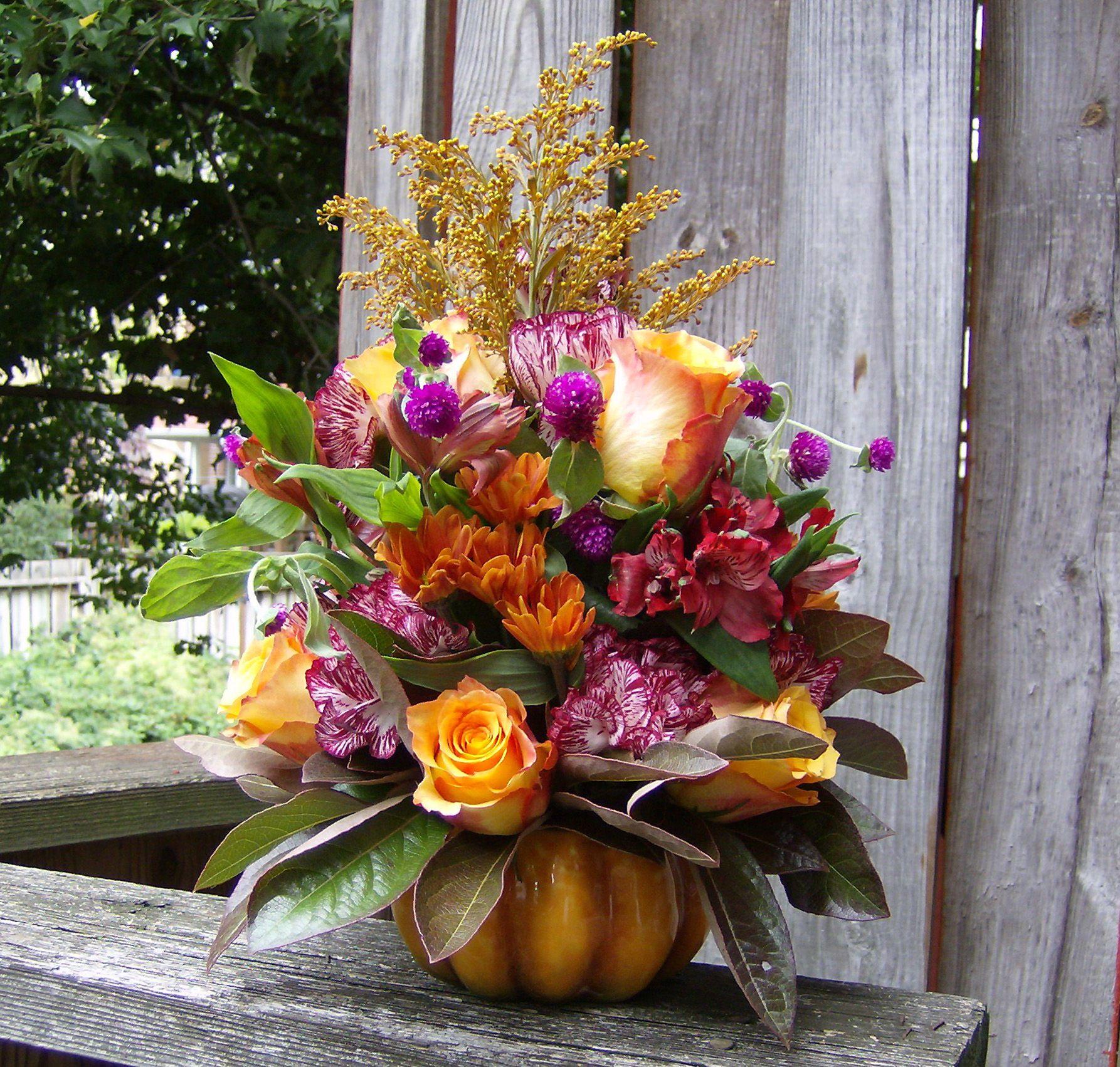 Fall Wedding Altar Flowers: Fall Flower Arrangement By Lisa