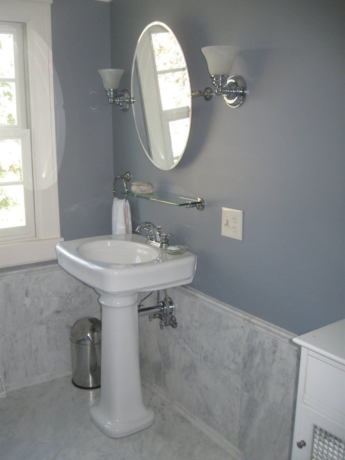 Shelves Above Bathroom Sink