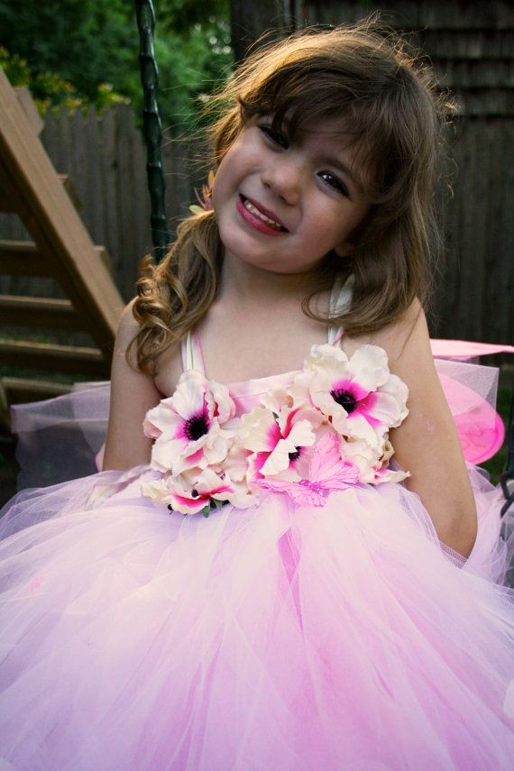 "Romantic Pink Ombre Flower Girl Tutu Dress by KellyHartzDesigns front of ""Ombre"" dress"