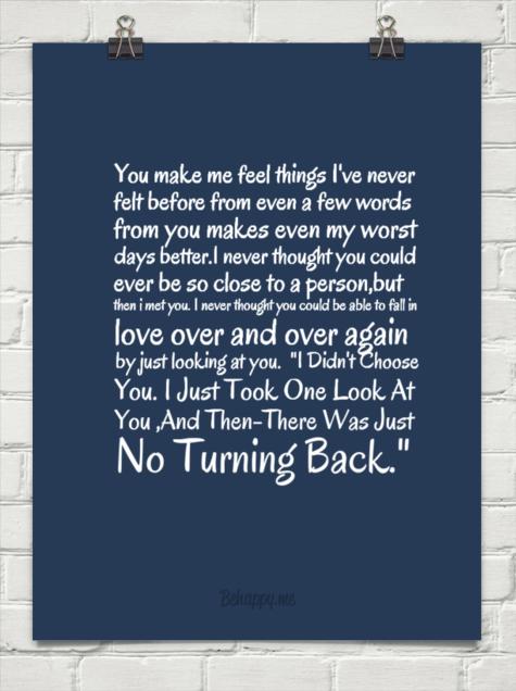 you make me feel like i ve never felt before