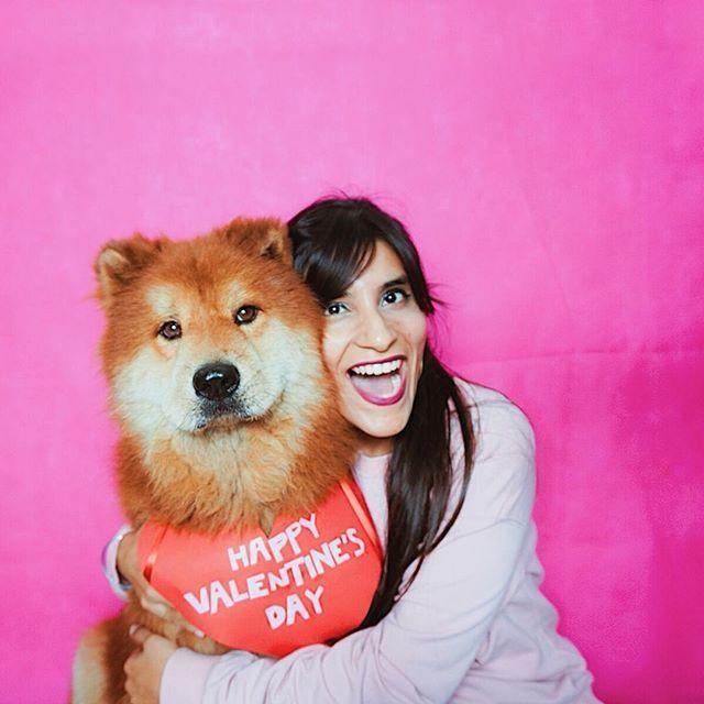 Happy Valentines Day  . Pepe y yo les deseamos un bonito día  Qué tienen planeado hacer? . . . . .  #bloggermexicana  #wiw #ootd #love #whatiwore #whatiworetoday  #mexicanblogger #outfitoftheday #pet #dogsitting #petstagram  #sanvalentin #felizsanvalentin  #chowchow #dogsofinstagram  #happyvalentinesday #mytravelgram #photoshoot #meandmydog #doglover #pink #pinkwall