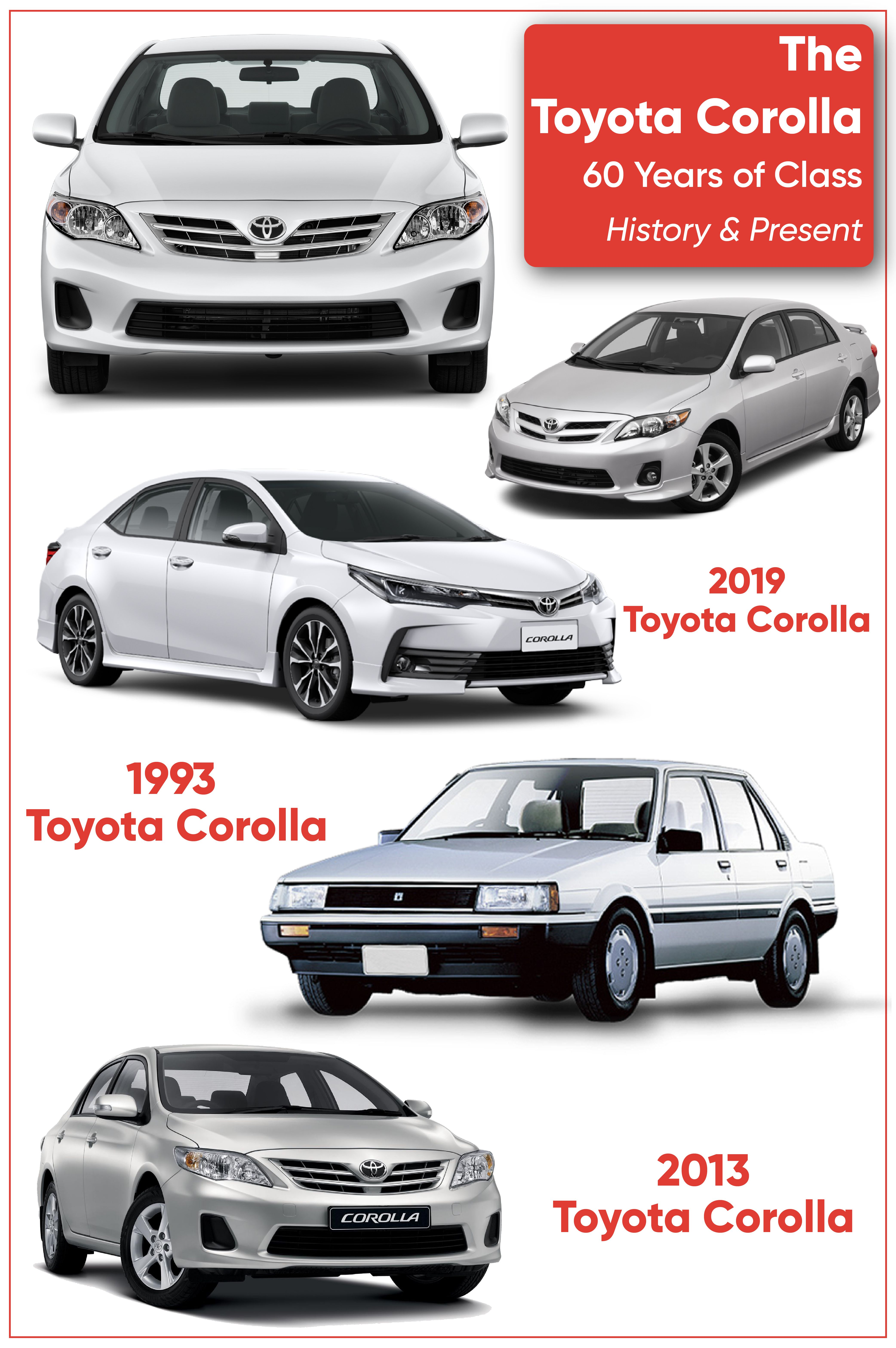 The Toyota Corolla 60 Years Of Class History Present Toyota Corolla Toyota Corolla