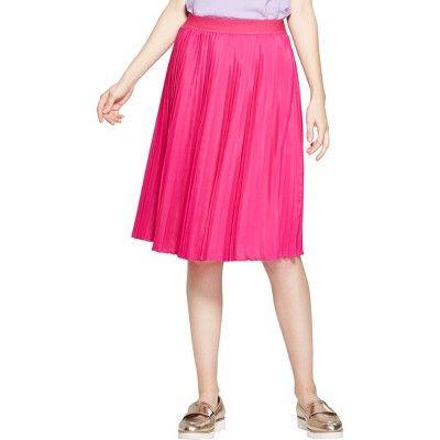 7b5f18a964 Women's Striped Pleated Skirt - A New Day™ Black/Blue/Purple XXS : Target