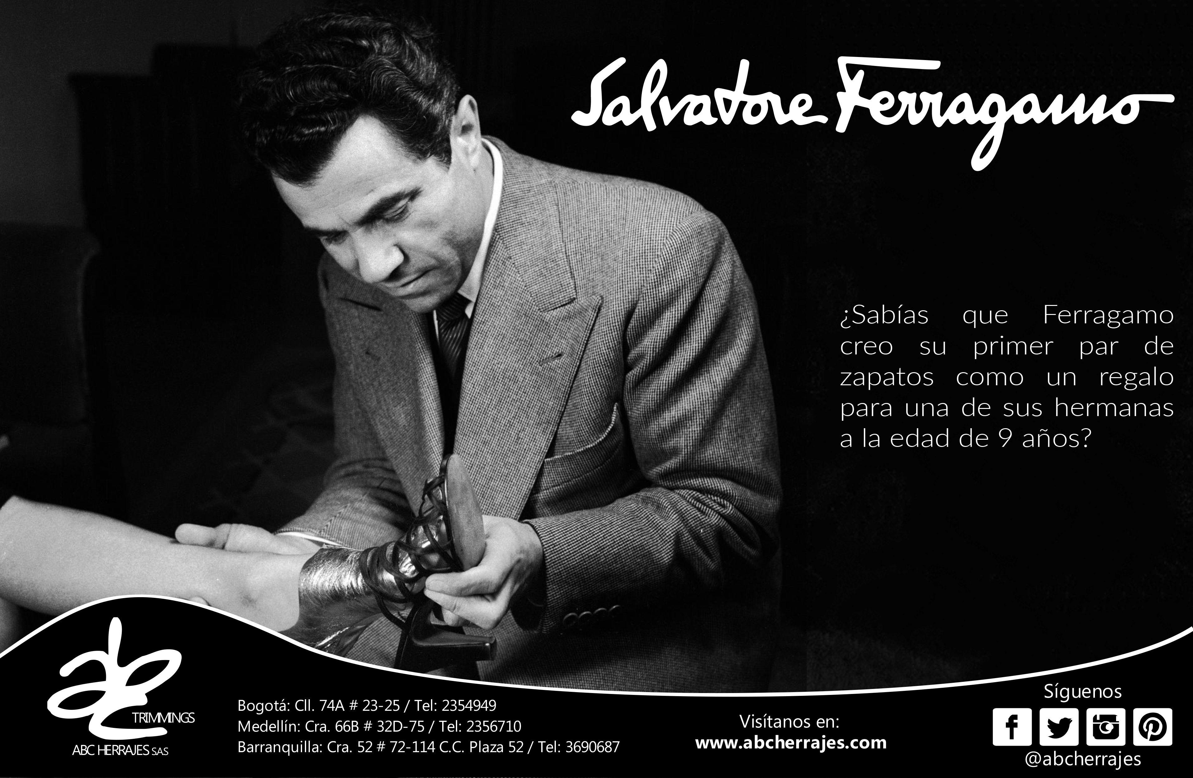 La marca Salvatore Ferragamo tiene el nombre del fundador de una de las casas de calzado mas prestigiosas a nivel mundial #SalvatoreFerragamo #ABCdesigners #ABCherrajes #Style #Designs #Luxury #Colombia   Nos puedes encontrar en:  Bogotá: Cll. 74A # 23-25 / Tel: 2354949 Medellín: Cra. 66B # 32D-75 / Tel: 2356710 Barranquilla: Cra. 52 # 72-114 C.C. Plaza 52 / Tel: 3690687  Visítanos en: www.abcherrajes.com Twitter: @abcherrajes  Instagram: @abcherrajes  Facebook:/abcherrajes
