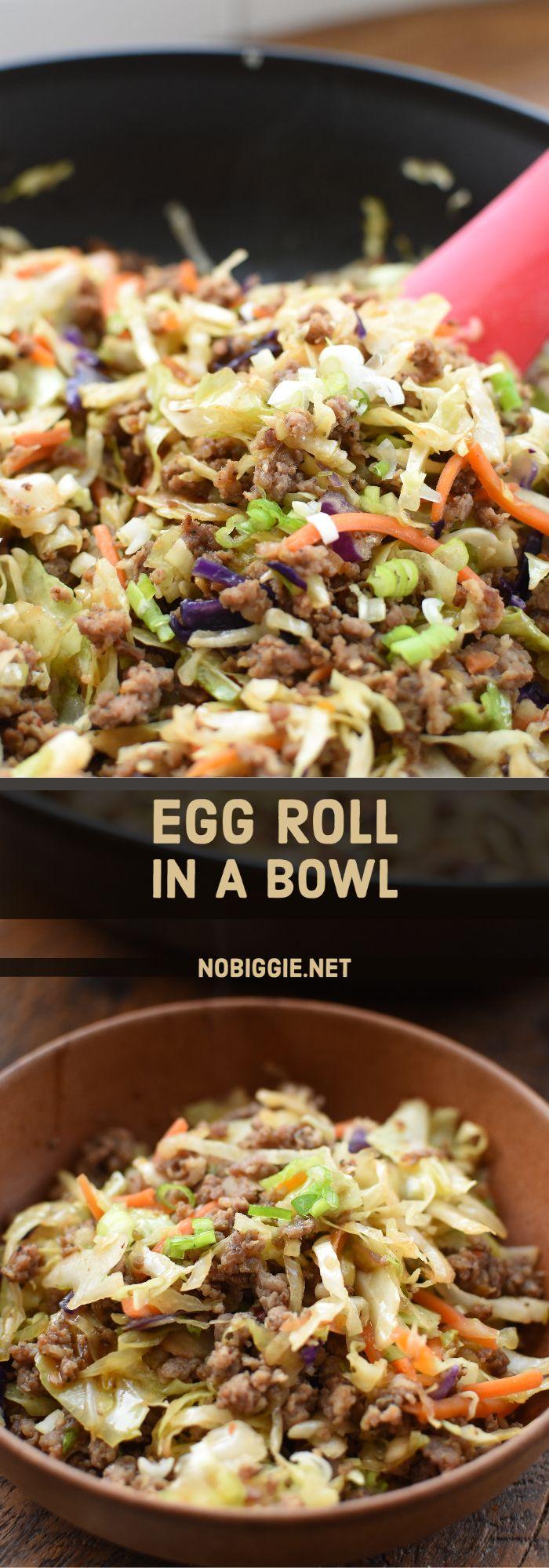 Egg Roll In a Bowl   NoBiggie.net
