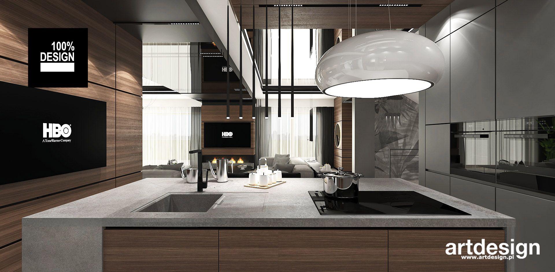 Nowoczesna Kuchnia Z Wyspa Projekt Artdesign Foorni Pl Kuchnia Kitchen Interior Home Homedesign Kuchnia Styln Lighted Bathroom Mirror Home Decor