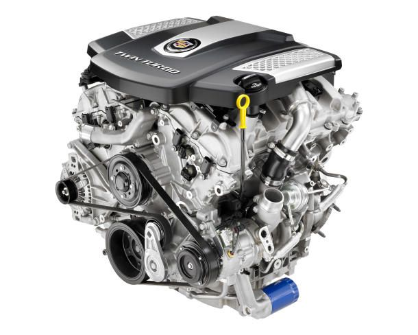 """cadillac delivers 420 hp with new twin turbo engine cars \u2013the 4"""" Turbo Diagram"""