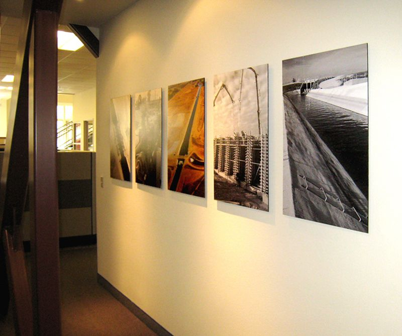 display work in large format glossy prints | Office Wall Art ...