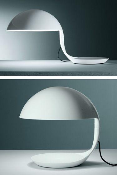 Martinelli Luce Elio Martinelli Cobra Table Lamp In White Lamp Modern Desk Lamp Lamp Inspiration
