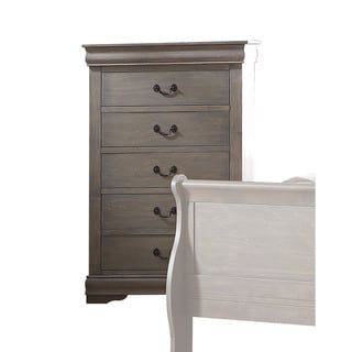 Best Acme Furniture Louis Philippe Multicolor Wood 5 Drawer 400 x 300