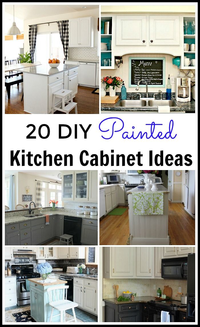 20 Diy Painted Kichen Cabinet Ideas With Images Diy Kitchen