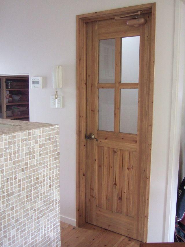 室内ドア 木製建具の施工例 E様邸 カントリーハウス 室内ドア 建具