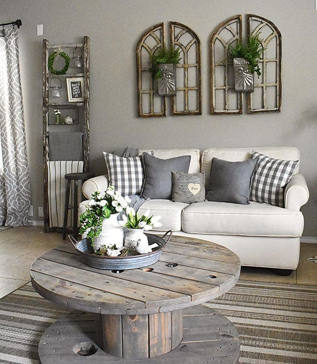 48 Modern Farmhouse Living Room Decor Ideas