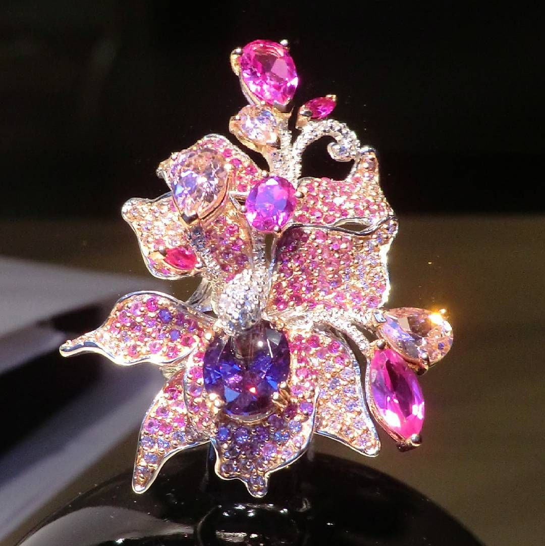 Who likes this #fabulous #ring #ruby #pinkdiamond #amethyst #gold ...