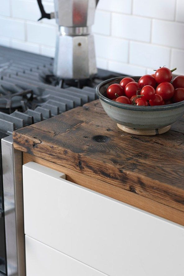 Modern White Reclaimed Wood Family Narrow Kitchen Design Ideas Houseandgarden Co Uk