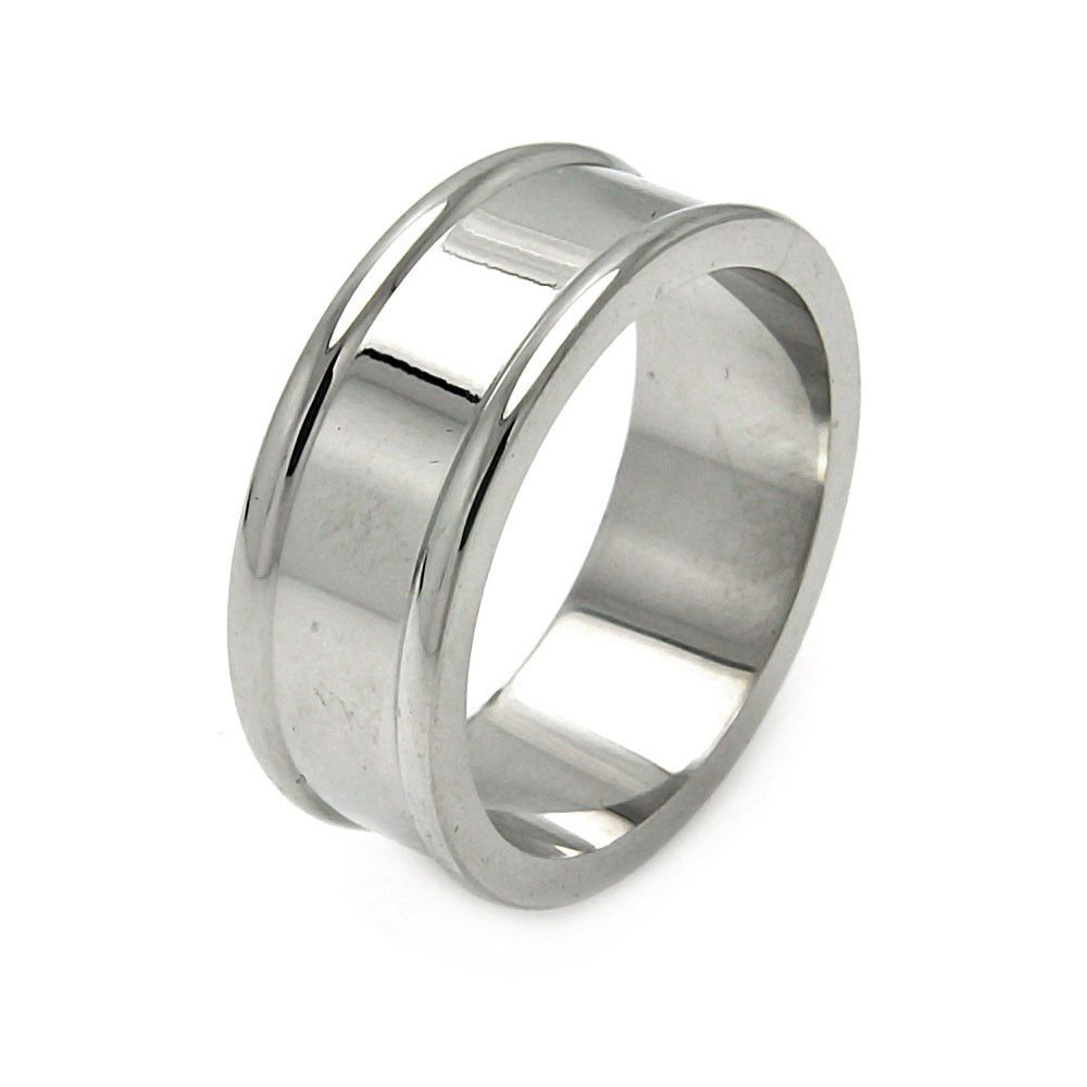 Men's Stainless Steel Border Ring