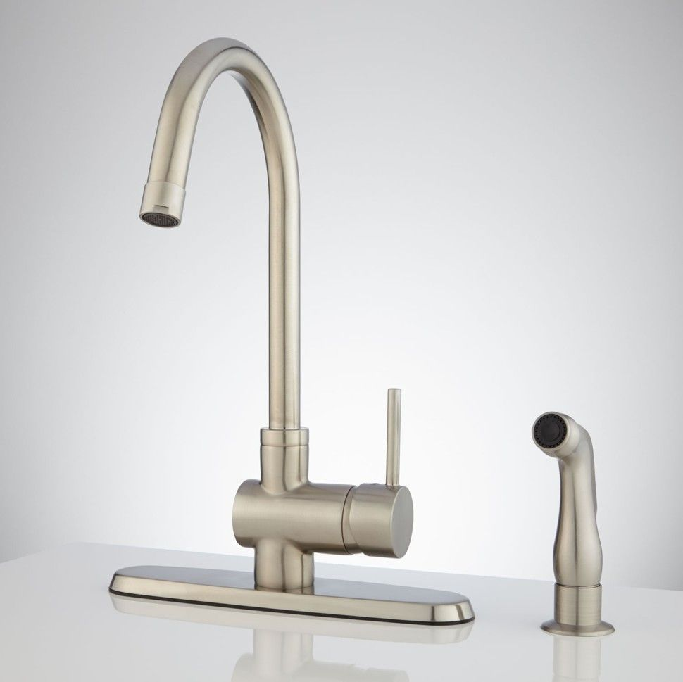 Kitchen:Healey Kitchen Faucet With Side Spray Kitchen Faucets ...