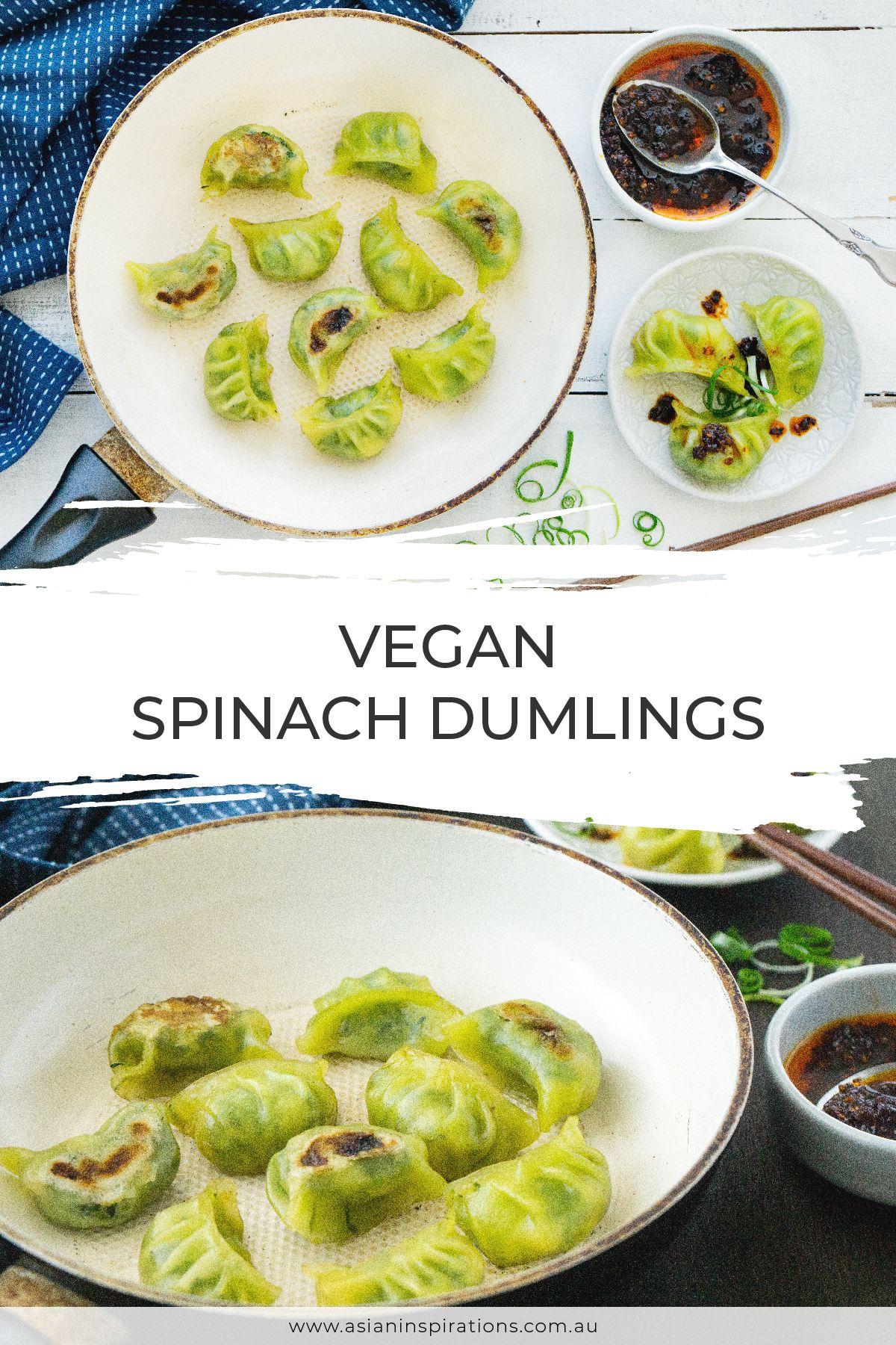 Vegan Spinach Dumplings