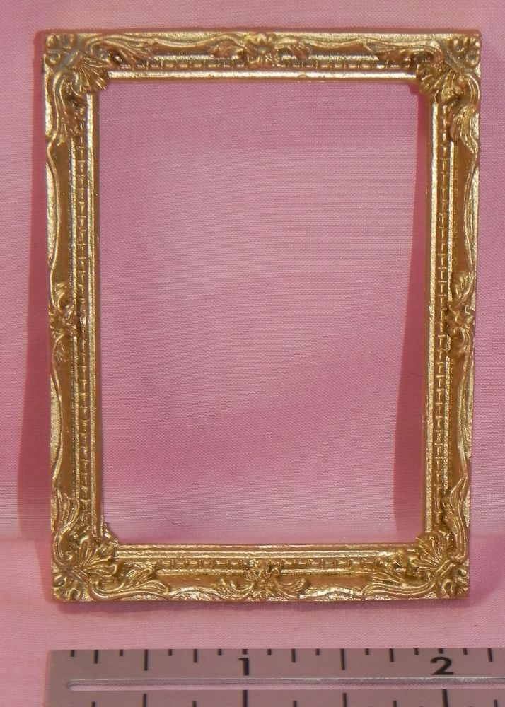 dollhouse miniature picture frame gold falcon minis 112 falcon - Miniature Frames