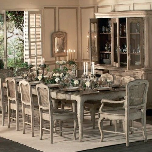 French Style Dining Room: The Art Of French Style French Provincial Dining Room