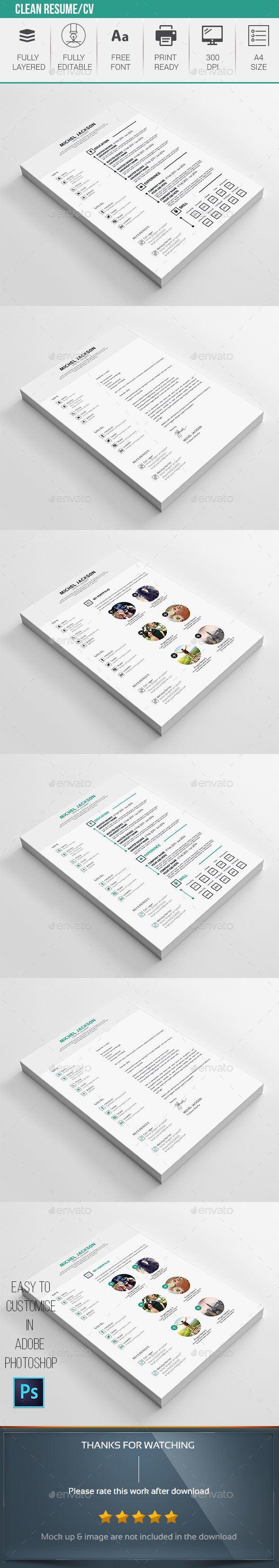 Clean Resume Download%0A Clean Resume Download Clean Resume CV Template Resumes Stationery Download  here https