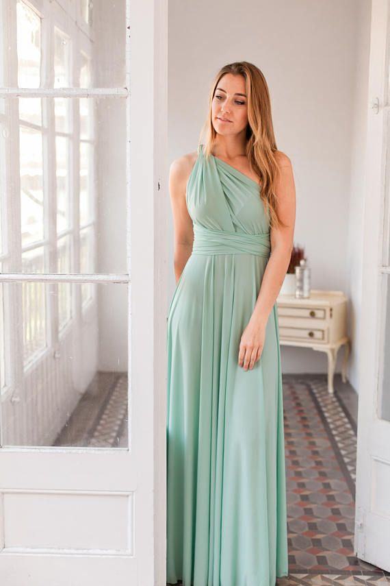 93d2200862f Sage green bridesmaid dress
