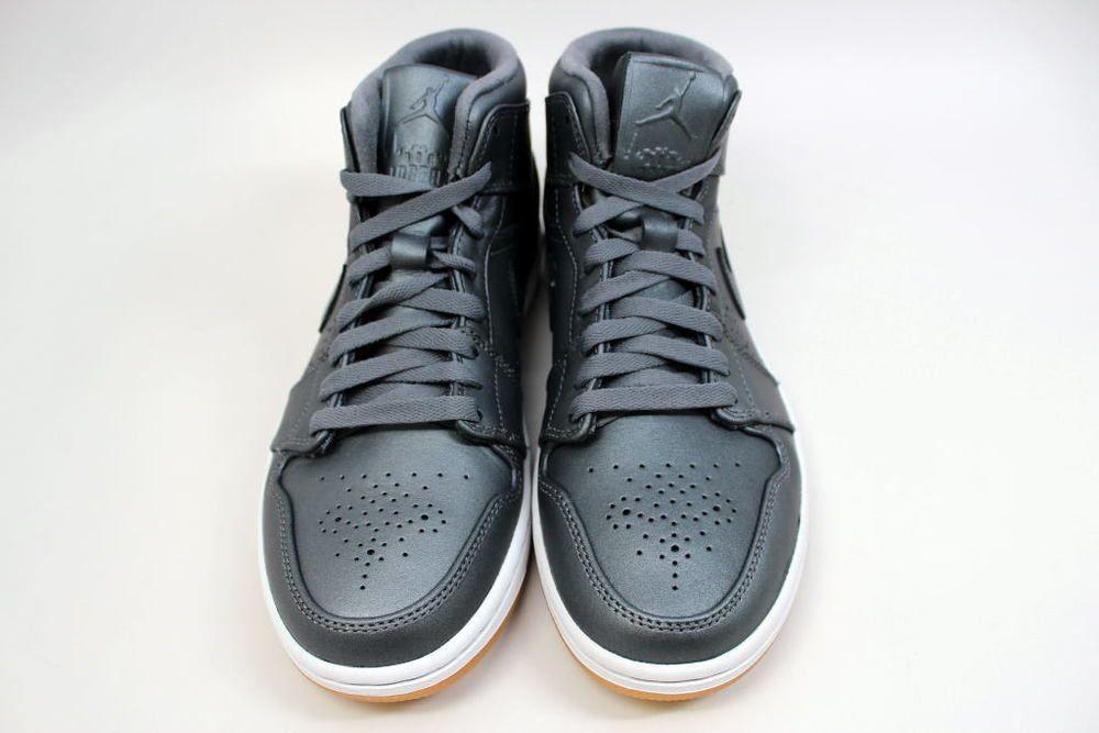 dc0a7f8d5119d8 Nike Air Jordan 1 Mid I Nouveau Cool Grey Wht-Gum Light Brown 629151-007 SZ  8.5  Nike  629151007