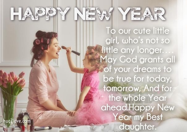 New Year Wishes for daughter to Mom   Happy New Year 2019 Wishes ...