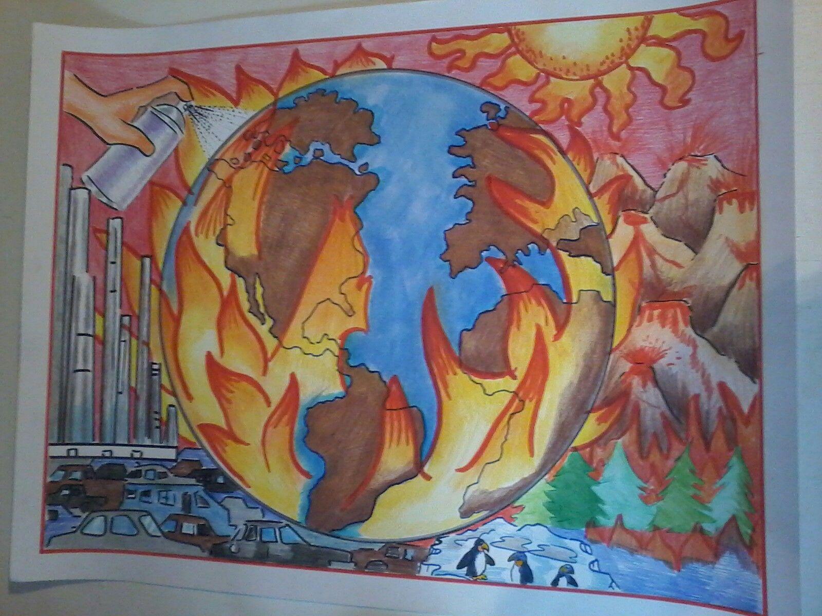Dibujo en cartulina contaminaci n ambiental tolo dibujos for Mural de fotos en cartulina