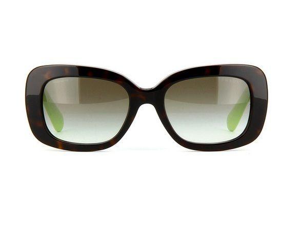 My everyday protector --> New PRADA Womens Sunglasses SPR27O QFL-0A7 HAVANA Frame Gray Lens Green BAROQUE #PRADA #SPR27O #Vintage #Havana #Sunglasses #Fashion $199.77