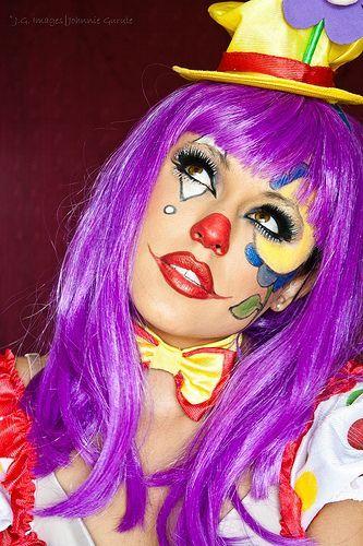 clown schminke frau poss 3 clownmakeup womenclown. Black Bedroom Furniture Sets. Home Design Ideas