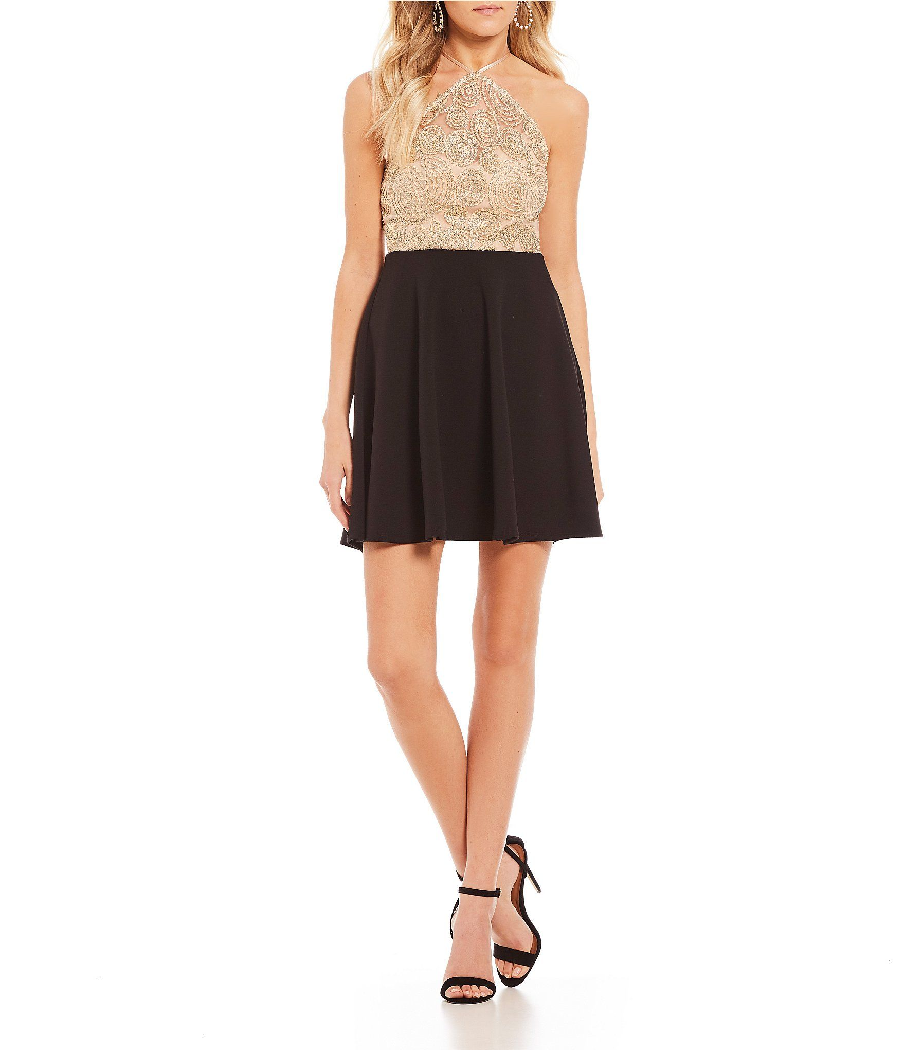 B darlin chain lace fitandflare dress dillards dresses in
