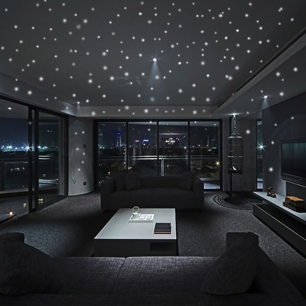 Glow In The Dark Star Wall Stickers 407pcs Round Dot Luminous Kids Room Decor 99 Haus Innenarchitektur Haus Design Luxusschlafzimmer