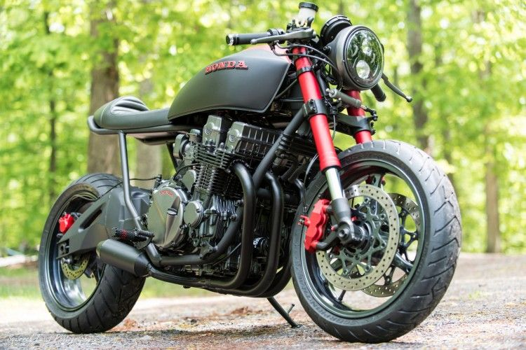Cool Custom Cafe Racer Based On A 1992 Honda CB750 Nighthawk Built By Industrial Moto