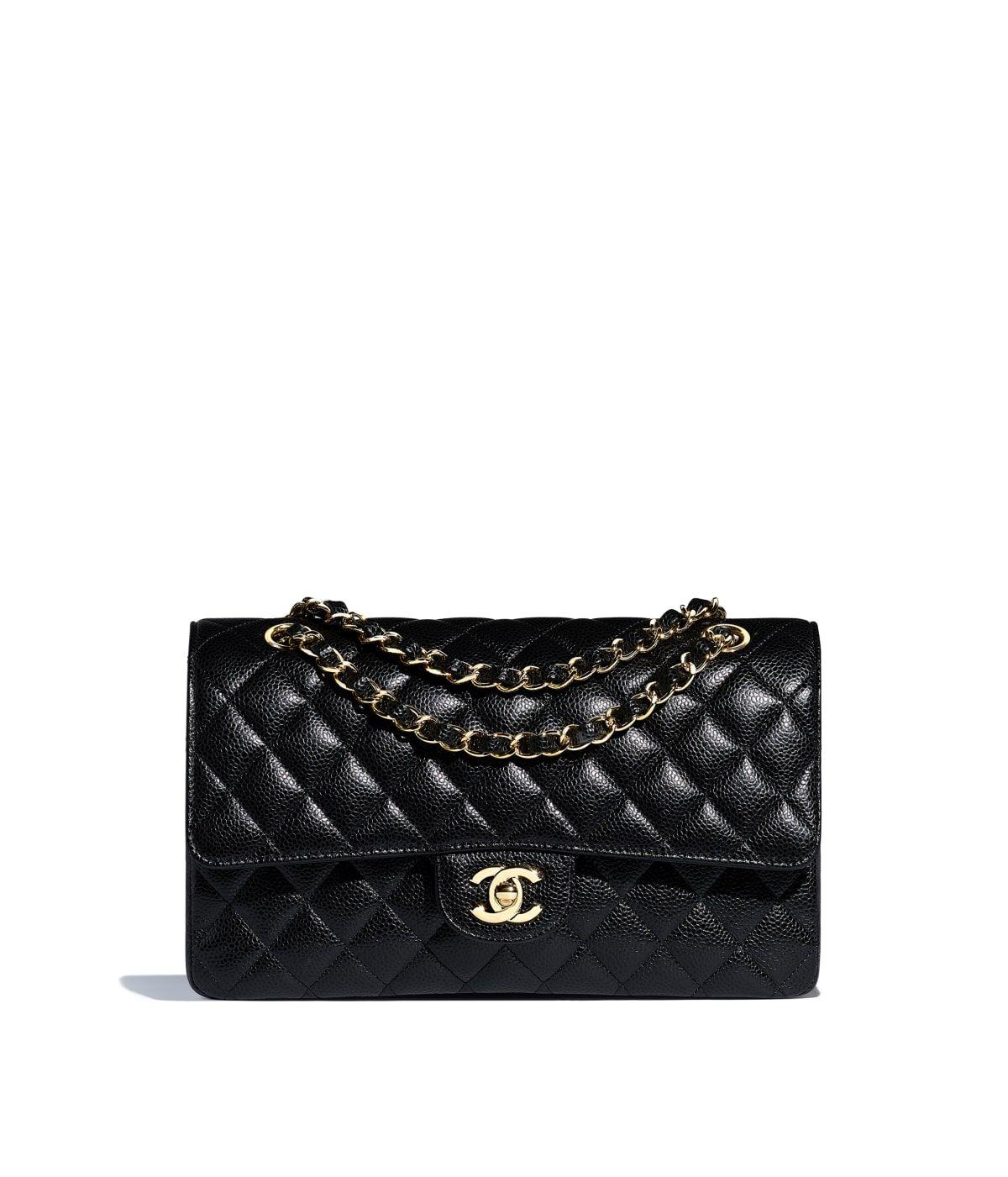 a42eee24 Grained Calfskin & Gold-Tone Metal Black Classic Handbag | Bao Bao ...