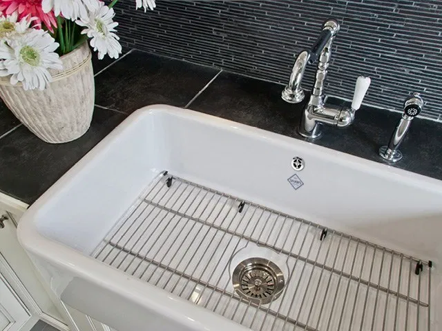 Shaws Butler 800 Sink And Metal Sink Grid Luxe By Design