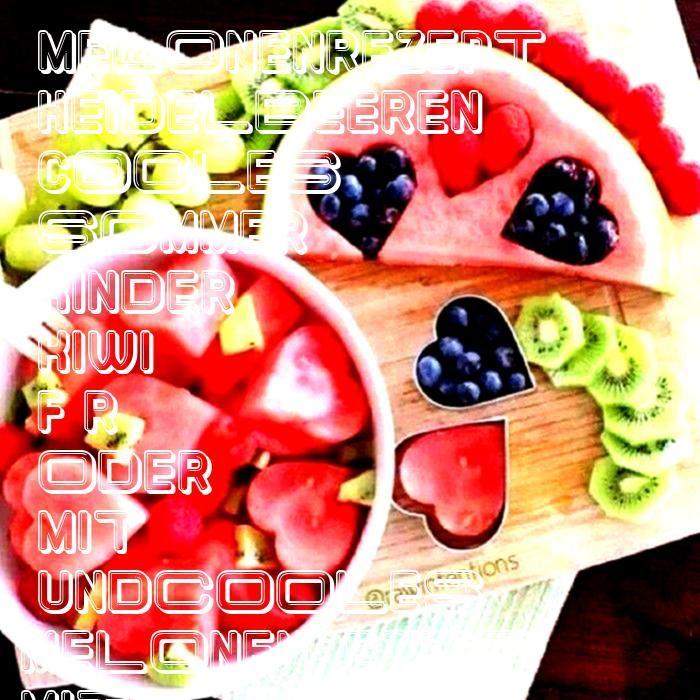 Melonenrezept mit Kiwi und Heidelbeeren für Sommer oder Kinder  Cooles Melonenrezept mit Kiwi und Heidelbeeren für Sommer oder Kinder Cooles Melonenrezept mit K...