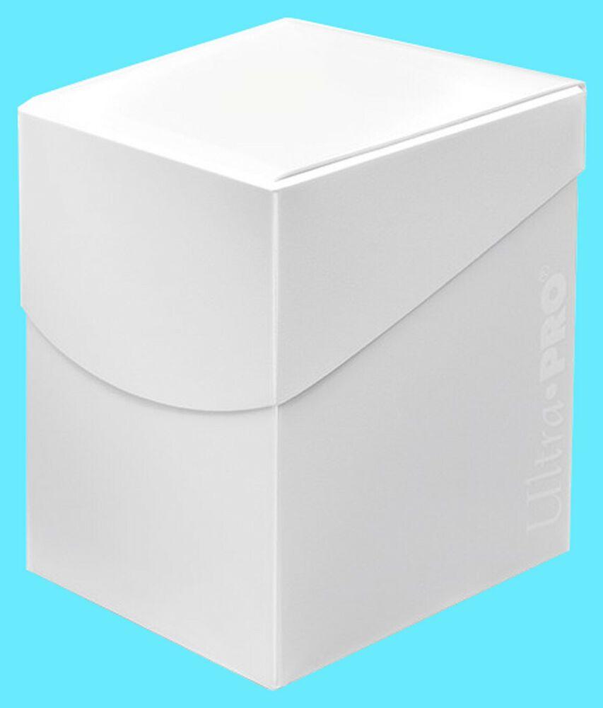 ULTRA PRO Deck Box ECLIPSE PRO-100 ARCTIC WHITE with DIVIDER card storage case