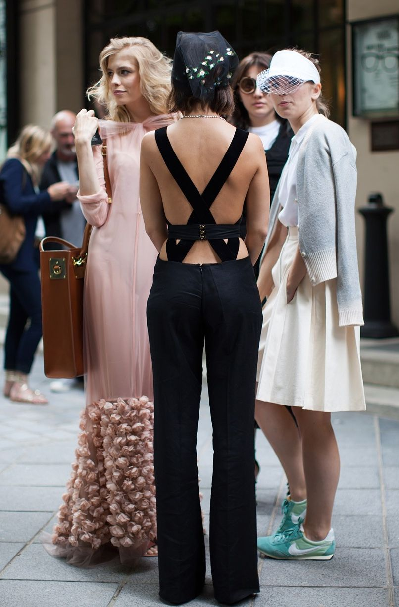 b335abb6e29 Miroslava Duma Black Jumpsuit with Statement Necklace for New Year s Eve     notjessfashion.com