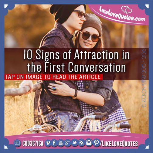 First signs of attraction