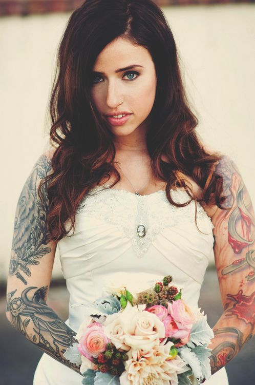 Wedding dress and tattoos suicide girl pinterest for Tattoos and wedding dresses