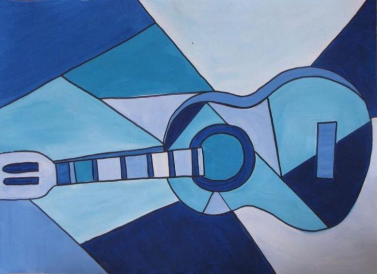 Contoh Lukisan Kubisme Gitar Kubisme Lukisan Sederhana Lukisan